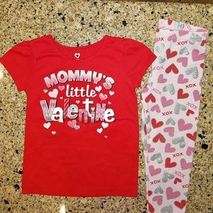 Other - Valentine's toddler girl outfit. SIZE 4T